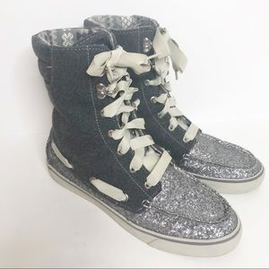 Sperry Top Siders Gray Silver Acklins Hi-Tops W103